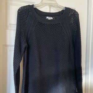 Old Navy black open knit sweater